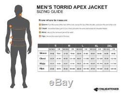 La Taille Faite Sur Commande De Veste D'apex De Torrid Apex D'équipement Éclairé Des Hommes Petit Nouveau Avec Des Étiquettes