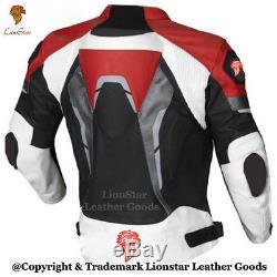 La Veste En Cuir Véritable De Course De Moto De Moto De Lionstar Avec Du Ce Approuvent Des Armures