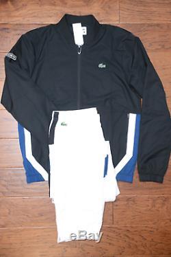 Lacoste Sport Wh9512 250 $ Athletic Blk Track Jacket Et Un Pantalon XL 6