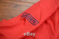 Lacoste Sport Wh9512 250 $ Mens Athletic Red Track Jacket Pantalons Survêtements L 5