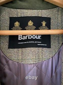 Ladies Barbour Tweed Coat /jacket Mint Condition, Porté Une Fois