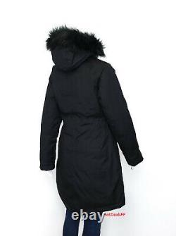 Le North Face Women's Arctic 550 Down Waterproof Dryvent Parka Jacket Noir Nouveau