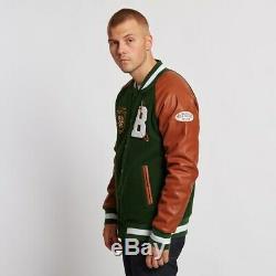 Les Garçons Milliardaires De La Mode Masculine Du Club Varsity Real Leather Jacket Nouvelle Arrivée