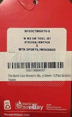 Les Mossbud North Face Femmes Swirl Triclimate Jacket Petite Brand New Randonnée Ski