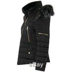 Les Nouvelles Femmes Dames Matelassée D'hiver Manteau Puffer Mode Fourrure Veste À Capuche Parka