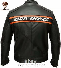 Lionstar Harley Davidson Moto Moto Real Leather Jacket