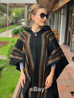 Llama Laine Hommes Womans Unisexe Amérique Du Sud XXL Poncho Cape Manteau Veste Cape