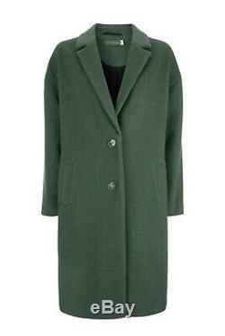 Manteau Long En Velours Vert Menthe Chuck Sur Laine Colorée En Laine Melton 44 16 £ 189