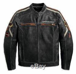 Mens Black Real Rider Jacket Biker Cafe Racer Retro Vintage Véritable Nouveau
