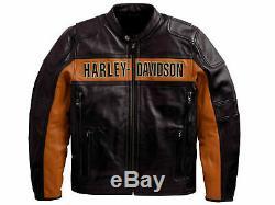 Mens Harley Davidson Victoria Lane Cuir Jacket- Nouvelle Arrivée