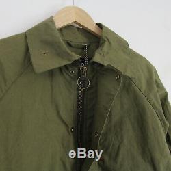 Mens New Barbour X Engineered Garments Sans Doublure Graham Veste Cirée M Vert Olive