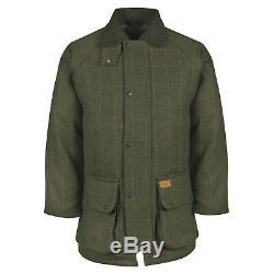 Mens New British Tweed Veste Matelassée Pays Outdoor Shooting Manteau En Laine Agriculture