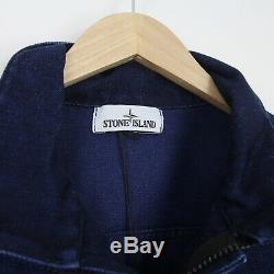 Mens New Stone Island Aw16 Polypropylène Denim Jacket XL Bnwt Bleu Casual Rare