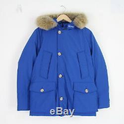 Mens New Woolrich Vers Le Bas Arctique Anorak Temps Froid Us S Parka Ue M Bleu Bn