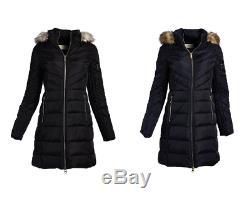 Michael Kors Mk Femmes Manteau D'hiver Col En Fausse Fourrure Amovible Puffer Down Jacket