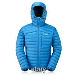Montane Mens Featherlite Down Outdoor Jacket Top Blue Sports Outdoors Full Zip