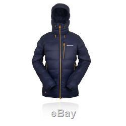 Montane Mens Jacket Black Ice Top Bleu Marine Sport Extérieur Full Zip Hooded
