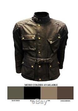 Moto, Coton Ciré Pour Homme, Coton Doublé, Doublure Wp, Blouson De Motard Armour