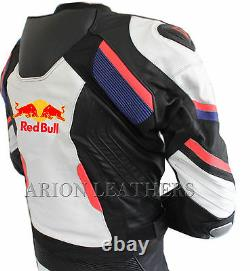 Moto Cuirs Costume Noir Blanc Moto Redbull Veste En Cuir - Pantalon