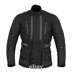Moto Veste De Moto Avec Armour Imperméable Textile Thermique Hommes Biker Ce