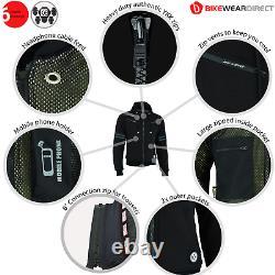 Moto Veste De Moto Hoodie Doublée Aramid Protection Avec Ce Biker Armour