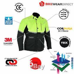 Moto Veste De Moto Imperméable Textile Biker Blindé Ce Cordura Texpeed