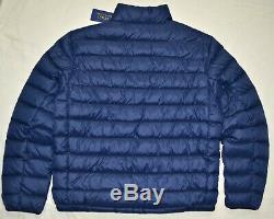New 4xlt Polo Ralph Lauren Mens Manteau De Veste 4xt 4xl Tall Puffer Bleu Marine