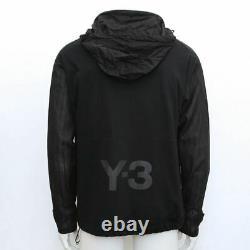 New Adidas Y-3 Yohji Yamamoto Veste À Capuche Taille Respirante Manches L Rrp £ 355