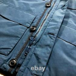 New Barbour Tech MID Weight Hooded Jacket Waterproof Breathable Blue Homme Sz M