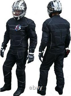 New Biker Outfit Veste Moto + Pantalons Textile Respirant