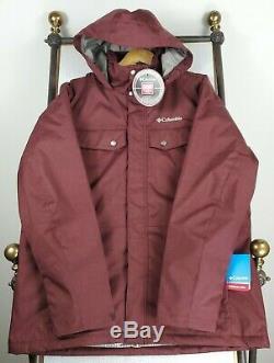 New Columbia Taille XL Hommes D'hiver Ski / Planche Veste Manteau À Capuchon À Fermeture Éclair 200 $ Tn-o