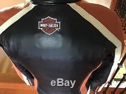 New Harley Davidson Femmes Medium Classique Cruiser Ventilé Veste En Cuir Avec Doublure