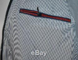 New Mens Hackett London Harry Classique Harrington Jacket Coat Navy Taille M Rrp £ 195