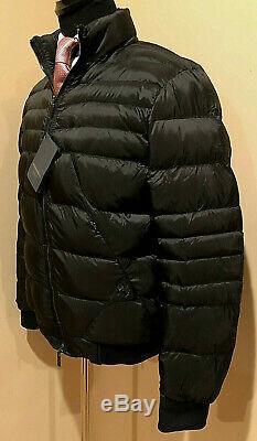 New Stefano Ricci Noir Luxe Homme Veste En Duvet D'oie D'hiver 5k $ Taille 54