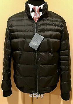 New Stefano Ricci Noir Luxe Homme Veste En Duvet D'oie D'hiver 5k $ Taille 56