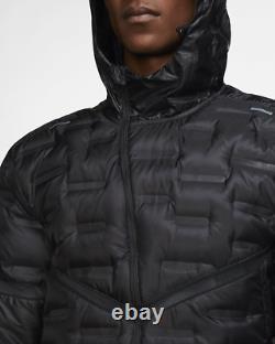 Nike Aeroloft Repel Veste Homme Réflexion Running Packable Noir Cu7792-010