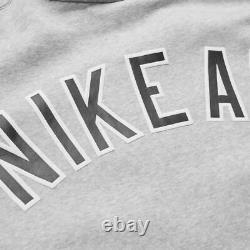 Nike Air Homme Varsity Full Grey Tracksuit S M L XL Full Zip Fleece