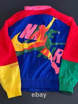 Nike Air Jordan Retro Vintage Style Jacket Coupe-vent Taille Grande L T.n.-o.