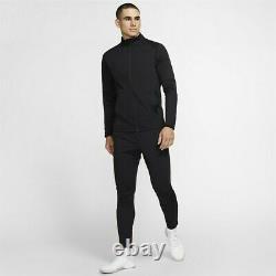 Nike Full Tracksuit Bottoms Zip Jacket Noir Pants Top Dri-fit Size Large Homme