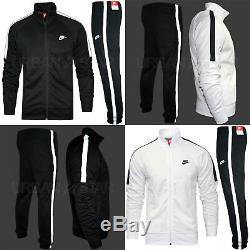 Nike Hommage Pleine Polyester Survêtement Zip Veste De Jogging Bottms Joggers