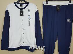 Nike Jordan XI Retro 11 Win Comme 96 Veste + Pantalon Blanc Bleu Nouveau (2xl) XL