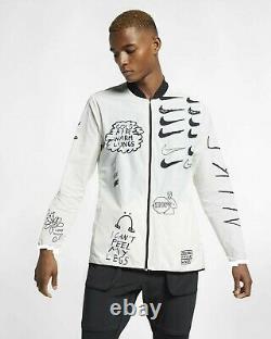 Nike Nathan Bell Mens Imprimé Running Jacket Aj7759-133 Taille Grande