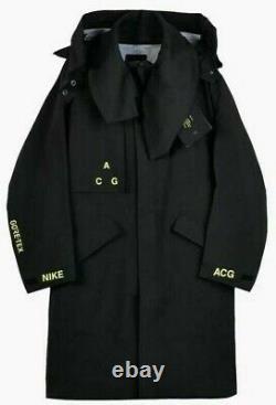 Nike Nikelab Acg Gore-tex Veste À Capuchon Homme Taille 2xl Black Volt Aq3516-010