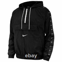Nike Nsw Swoosh Woven Logo Hommes Veste Noir Multi Taille Sportswear Full Zip