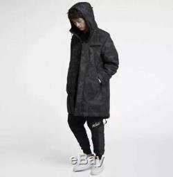 Nike Sportswear Nsw Primaloft Parka Noir Gris Obsidian Camo Chaud Hommes M