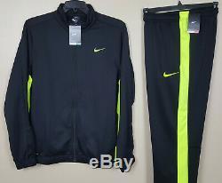 Nike Survêtement Dri-fit Veste + Therma-fit Pantalon Noir Volt Nouveau (grand Moyen)
