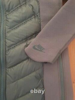 Nike Tech Fleece Aeroloft Veste Parka À Capuche Sz S Grey 804976 021 Femmes