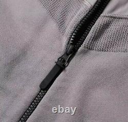 Nike Tech Fleece Knit Jacket Gunsmoke & Black Rrp £219 Taille Moyenne Nouveau Avec Tags