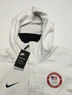 Nike Tech Fleece Windrunner Hoodie Équipe Olympics USA Taille M Moyen 909530-100