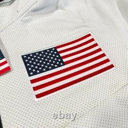 Nike Therma Flex USA Basketball Olympic Warmup Jacket At4879 100 Wht Hommes Small